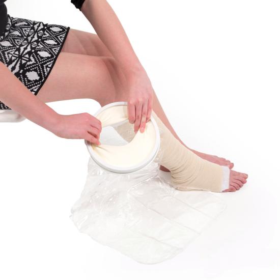 Ochraniacz wodoszczelny do kąpieli na nogę ( do kolana) krótki