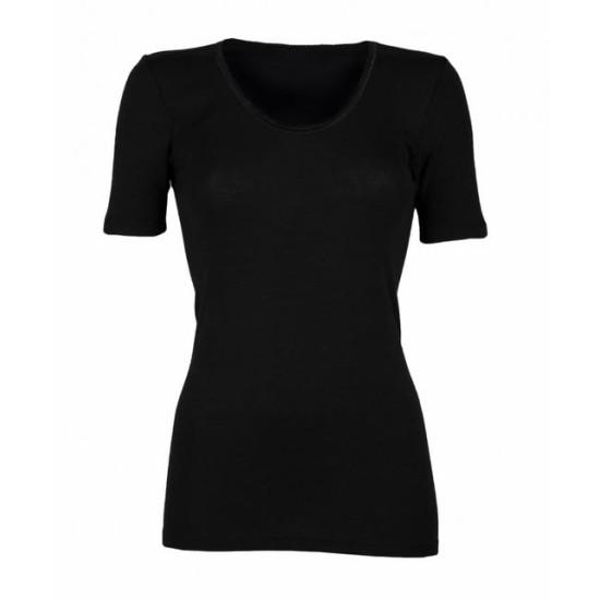 Koszulka damska z wełny merynosów krótki rękaw