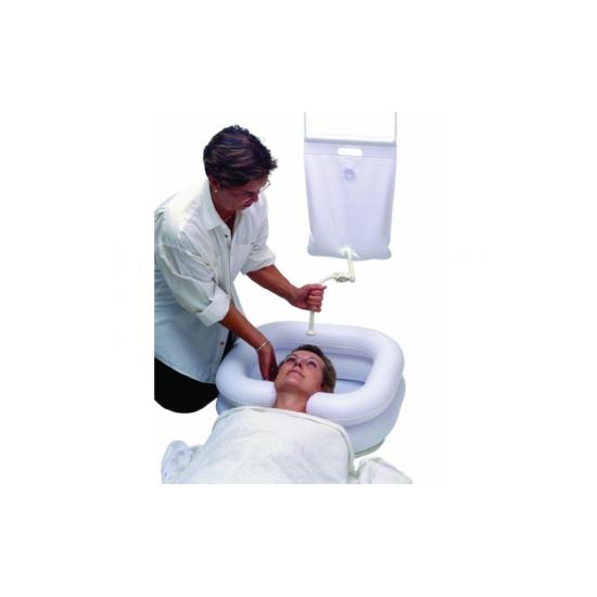 Zestaw do mycia głowy osoby leżącej (basen+ prysznic)